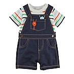 carter's® Size 3M 2-Piece Monster Shortall and Shirt Set in Blue