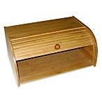 Lipper International Bamboo Roll Top Bread Box