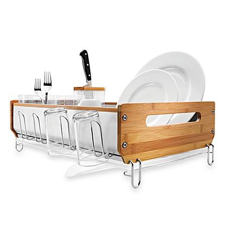 Simplehuman 174 Bamboo Frame Dish Rack Bed Bath Amp Beyond