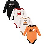 Hudson Baby® Size 0-6M 4-Piece Holiday Bodysuits