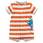carter's® Size 3M Monster Snap-Up Romper in Orange
