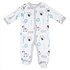 Sterling Baby Size 6M Jungle Friends Footie in White