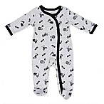 Sterling Baby Size 3M Ride Along Footie in Grey