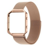 Milanese Small Loop Band with Frame for Fitbit Blaze in Rose Gold