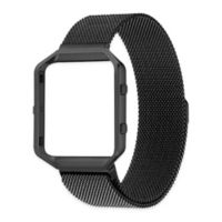 Milanese Small Loop Band with Frame for Fitbit Blaze in Black
