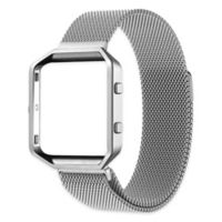 Milanese Large Loop Band with Frame for Fitbit Blaze in Silver