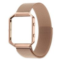 Milanese Large Loop Band with Frame for Fitbit Blaze in Rose Gold