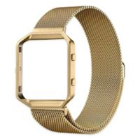 Milanese Large Loop Band with Frame for Fitbit Blaze in Gold
