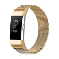 Stainless Steel Milanese Small Loop Band for Fitbit Charge 2 in Gold