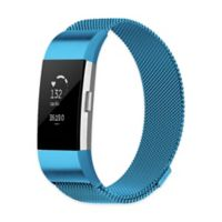 Stainless Steel Milanese Large Loop Band for Fitbit Charge 2 in Blue