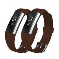 Silicone Bands for Fitbit Alta™ & Alta HR™ in Coffee (Set of 2)
