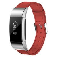 Large Leather Band for Fitbit Charge 2™ in Red