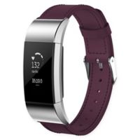 Large Leather Band for Fitbit Charge 2™ in Purple