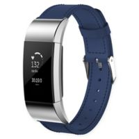 Large Leather Band for Fitbit Charge 2™ in Blue