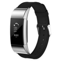 Large Leather Band for Fitbit Charge 2™ in Black