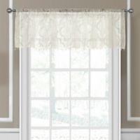 Elrene Montego Sheer Beaded Window Valance in Ivory