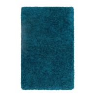 Vista Living Claudia 2'6 x 4' Shag Accent Rug in Teal