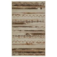 Mohawk Home 5' x 8' African Patchwork Area Rug in Neutral Beige