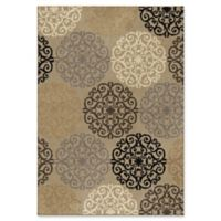 Orian Rugs Utopia Medallion 7'10 x 10'10 Indoor/Outdoor Area Rug in Beige