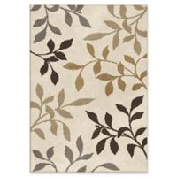 Orian Rugs Utopia Falling Leaves 7'10 x 10'10 Area Rug in Ivory