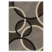 Orian Rugs Utopia Magic Rings 7'10 x 10'10 Area Rug in Grey