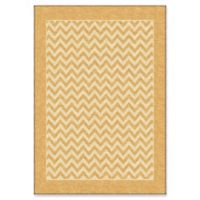Orian Sunny Day Stripe 5'2 x 7'6 Area Rug in Gold
