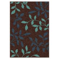 Orian Rugs Veranda Stimulus Indoor/Outdoor 5;2 x 7'6 Area Rug in Brown