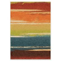 Orian Rug Brushed Stripes Multicolor 5'3 x 7'6 Area Rug
