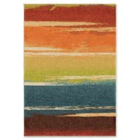 Orian Rug Brushed Stripes Multicolor 7'10 x 10'10 Area Rug