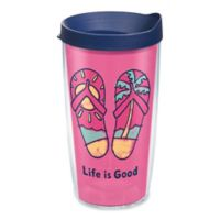 Tervis® Life is Good® Pink Flip Flop 16 oz. Wrap Tumbler with Lid