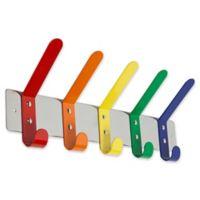 Danya B. Stainless Steel Multicolor Hook Rack