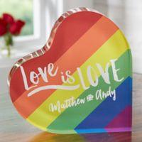 Love Is Love Colored Heart Keepsake