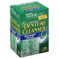 Harmon® Face Values™ 84-Count Overnight Whitening Denture Cleanser Tablets