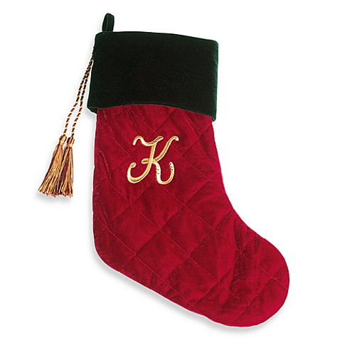 Harvey Lewis™ Monogram Initial K Christmas Stocking Made with Crystals from Swarovski®