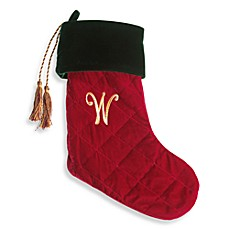 harvey lewis monogram initial w christmas stocking made with crystals from swarovski - Monogrammed Christmas Stockings