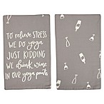 "Primitives by Kathy® ""To Relieve Stress"" Kitchen Towel"