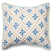 Amity Home Ike European Pillow Sham in Blue/Taupe