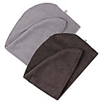 Martex Easy Living 2-Pack Hair Wrap Towels in Dark Grey