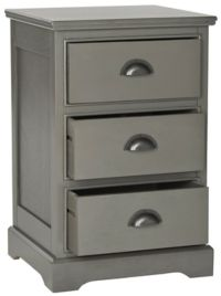 Griffin 3 Drawer Side Table in Grey
