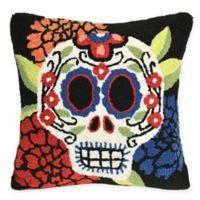 Liora Manne Frontporch Mrs. Muerto Square Indoor/Outdoor Throw Pillow in Black