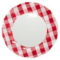 Sophistiplate™ 20-Count Petalo Paper Dinner Plates in White/Red