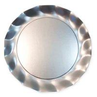 Sophistiplate™ 20-Count Petalo Paper Dinner Plates in Satin Silver