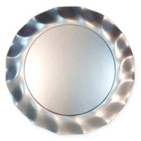 Sophistiplate™ 10-Count Petalo Paper Charger Plates in Satin Silver