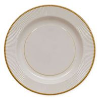 Sophistiplate™ 16-Count Righe Paper Dinner Plates in Gold