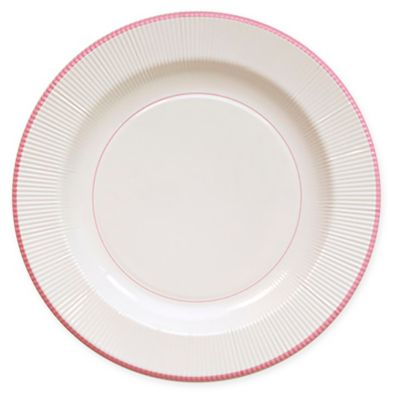 Sophistiplate™ Righe 16-Count Paper Dinner Plates in Pale Pink  sc 1 st  Bed Bath \u0026 Beyond & Buy Pink Dinner Plates from Bed Bath \u0026 Beyond