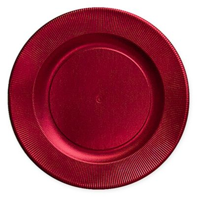 Sophistiplate™ Righe 16-Count Paper Dinner Plates in Satin Red  sc 1 st  Bed Bath \u0026 Beyond & Buy Red Dinner Plates from Bed Bath \u0026 Beyond