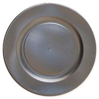 Sophistiplate™ 16-Count Righe Paper Dinner Plates in Satin Silver