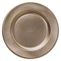 Sophistiplate™ 16-Count Righe Paper Dinner Plates in Satin Gold