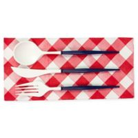 Sophistiplate™ 36-Piece Disposable Flatware Set in White/Navy