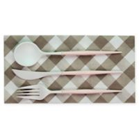 Sophistiplate™ 36-Piece Disposable Flatware Set in White/Blush